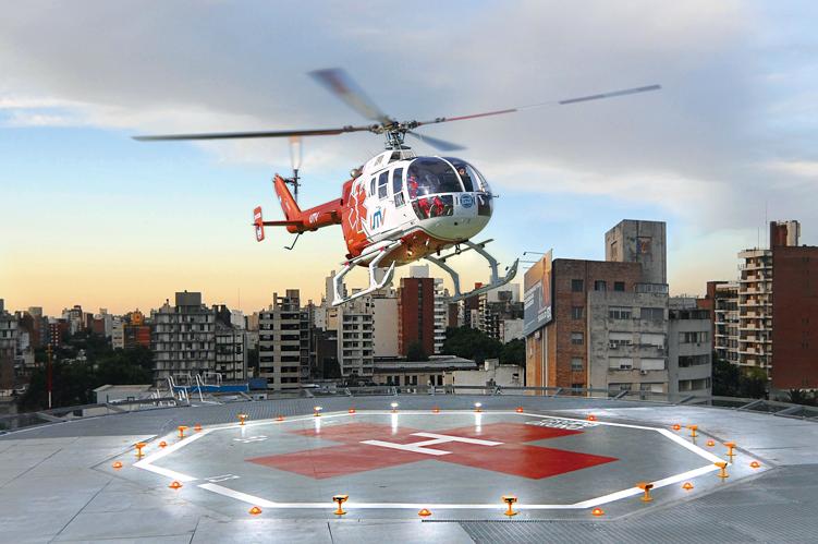 Entra en operaciones el primer helipuerto sanitario