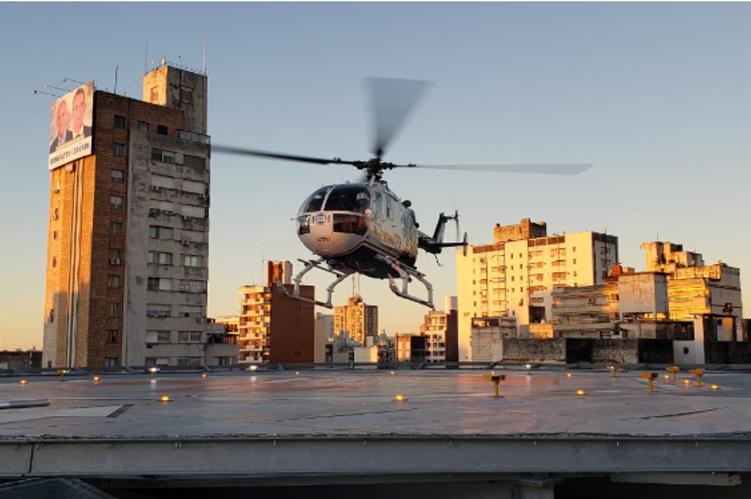 El helipuerto de Grupo Oroño, base de una nueva capacidad  logística para el trasplante de órganos